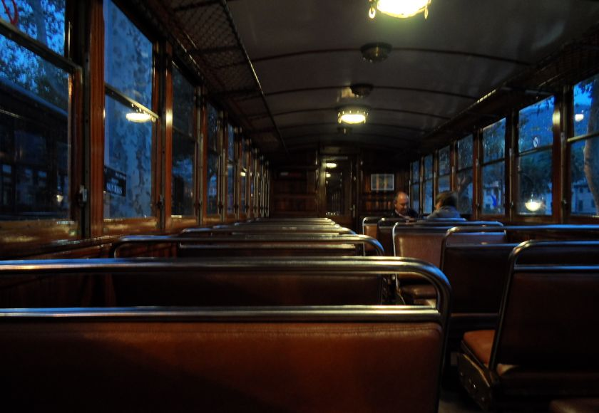 on board the soller train