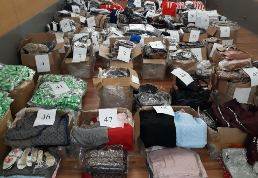 confiscated fake goods
