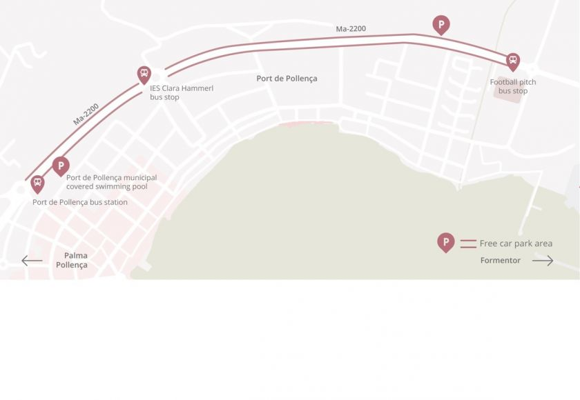 parking and bus map