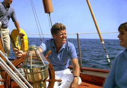 president kennedy on the yacht manitou