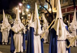 easter religious procession in palma