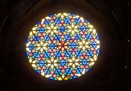 palma cathedral stained glass rose window