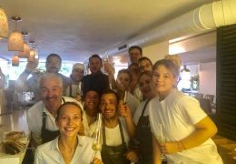 staff at adrian quetglas restaurant